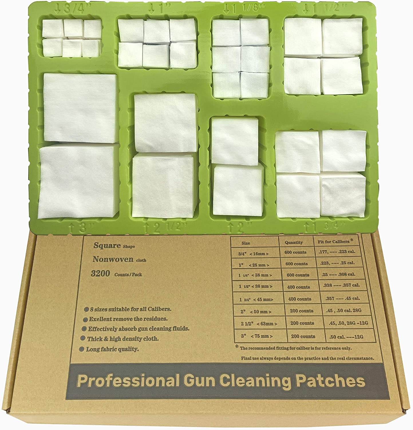 YOURBORE Gun OFFer Cleaning Patches kit Non Milwaukee Mall Woven Coton Flannel Cloth