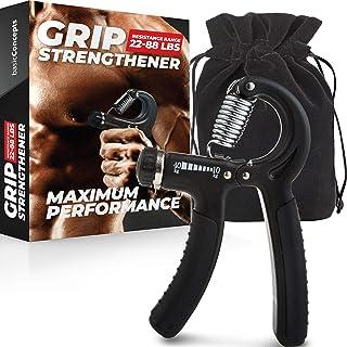 Grip Strength Trainer, Adjustable Hand Grip Strengthener, Forearm Exerciser, Finger..