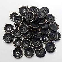 ヴィンテージ風 こげ茶色系ボタン 20mm 4穴 スーツ 上着 ジャケット 袖口 カーディガン 手芸 最適 TM74-20-DBR-211 (20mm:50個入)