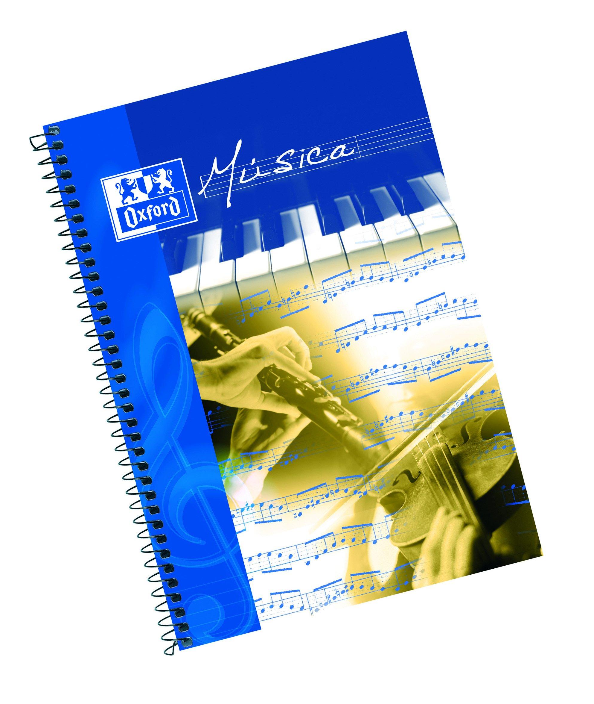 Oxford 100302776 - Pack de 10 cuadernos de música espiral, Fº ...