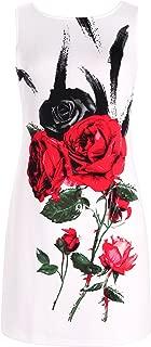 Chicwe Women's Stretch Plus Size Floral Print Shift Dress Sleeveless 1X-4X