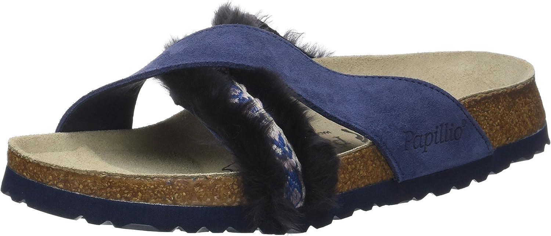Daytona Suede Leather Fur Cozy Night bluee
