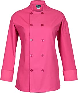 Fame Women's Long Sleeve Chef Coat (large, Raspberry)
