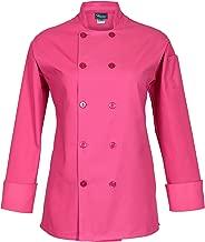 Fame Women's Long Sleeve Chef Coat (medium, Raspberry)