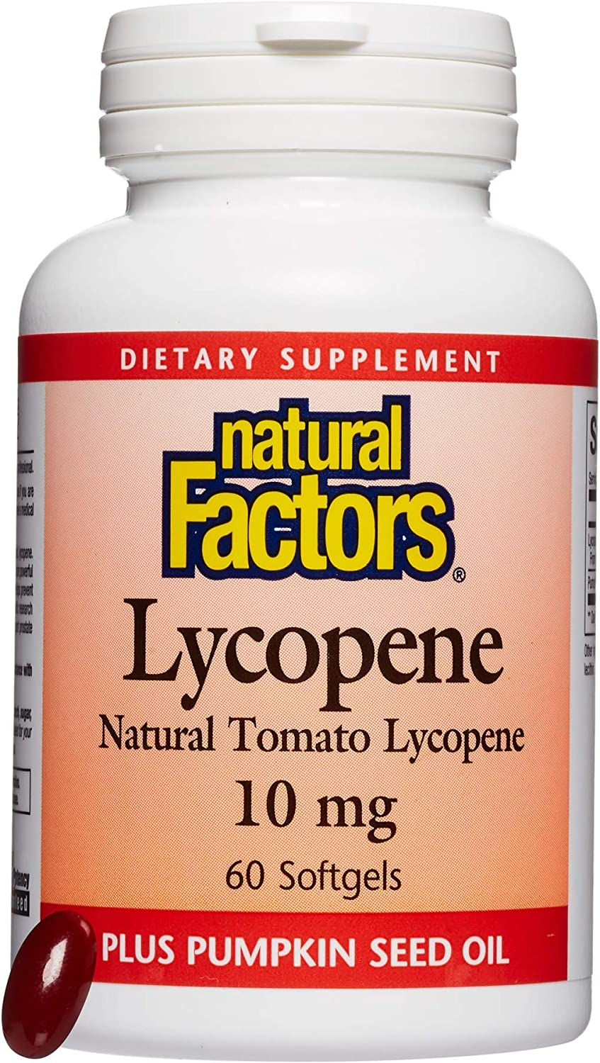 Natural Factors Seasonal Wrap Introduction Lycopene 10 mg Help to Popularity Support Antioxidant Red