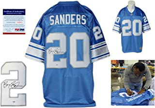 Barry Sanders Signed Detroit Lions Reebok Premier Jersey - Beckett - Autographed w/ Photo