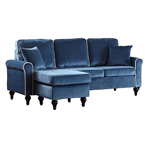 Pleasant Velvet Sectional Sofa Amazon Com Onthecornerstone Fun Painted Chair Ideas Images Onthecornerstoneorg