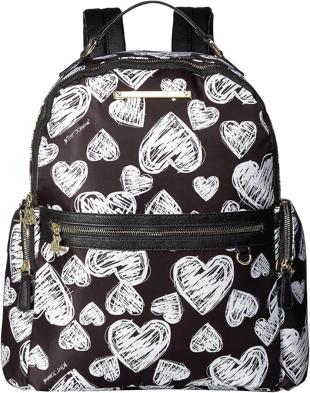 Betsey Johnson Womens Printed Backpack