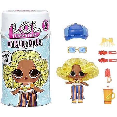 LOL Surprise Hairgoals Série 2 - 15 Surprises à l'Intérieur - Poupée Surprise avec de Vrais Cheveux et Accessoires - Amusant Effet de Changement de Couleur - À collectionner