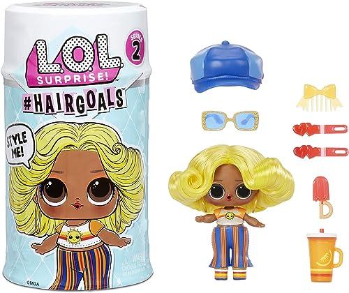 LOL Surprise Hairgoals Série 2 - 15 Surprises à l'Intérieur - Poupée Surprise avec de Vrais Cheveux et Accessoires - ...
