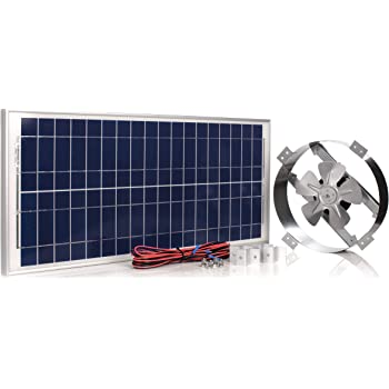 Amtrak Solar Powerful 50-Watt Galvanized Steel New Upgraded 14 inch Solar  Attic Fan Quietly Cools and Ventilates your house, garage or RV and  protects against moisture build-up - - Amazon.comAmazon.com
