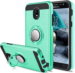 Galaxy J7 2018 Case Samsung Galaxy J7 Aero/J7 Top/J7 Crown/J7 Aura/J7 Refine/J7 Eon Case with Screen Protector,AnoKe 360 Degree Rotating Ring Holder Kickstand for Galaxy J7 2018 ZS Mint