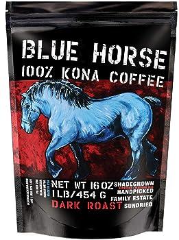 Farm-fresh: 100% Kona Coffee, Dark Roast, Whole Beans