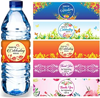 Best water bottle labels for wedding favors Reviews