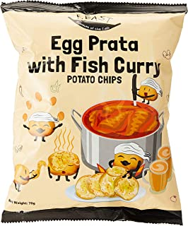 F.EAST Egg Prata with Fish Curry Potato Chips, 70g