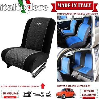 ***Prodotto 100/% Made in Italy!*** italfodere Fodere su Misura Coprisedili Foderine Smart Fortwo Anni di Costruzione: W450 98-07 | W451 07-15 Set Completo Vari Colori Nero 316