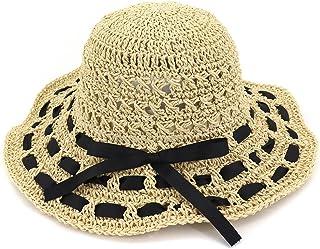 5c87c3f691da01 Spring and summer handmade crochet straw hat ladies along the hollow visor  foldable sunscreen big sun