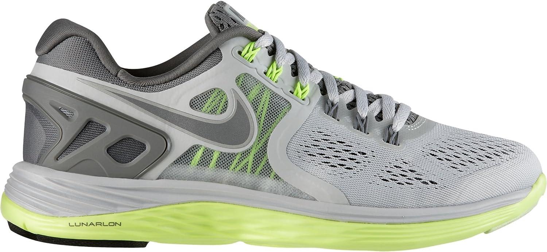 Nike Womens Lunareclipse 4 Running Lt Base Grey Med Base Grey Volt Reflect Silver