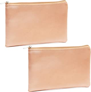 Rose Gold Pouch for Pens, Makeup, Accessories (2 Pack)