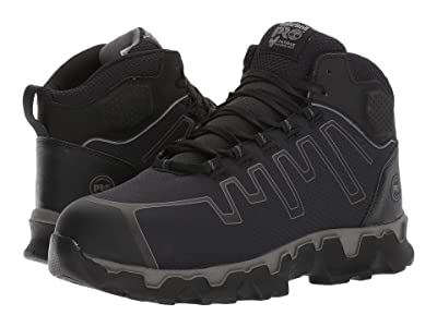 Timberland PRO Powertrain Sport Mid Alloy Safety Toe EH (Black Ripstop Nylon) Men