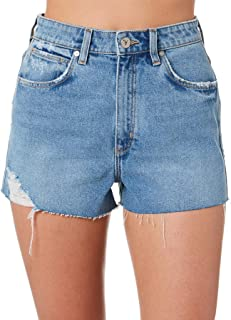 A.Brand Women's Womens A High Relaxed Short Cotton Fitted Blue
