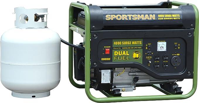 Sportsman GEN4000DF 3500 Running Dual Fuel Powered Portable Generator