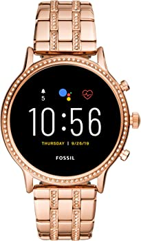 Fossil Gen 5 Julianna HR 44mm Rose Gold-Tone Stainless Steel Smartwatch