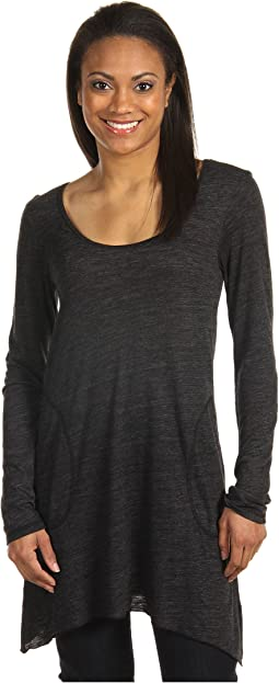 Allen Allen L/S Angled 2-Pocket Scoop Tunic
