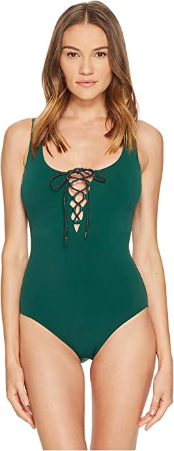 Stella McCartney - Lace-Up One-Piece
