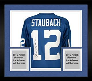 Framed Roger Staubach Dallas Cowboys Autographed Blue Authentic Mitchell & Ness Jersey - Fanatics Authentic Certified