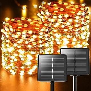 Guirlande Solaire Exterieur,【Lot de 2】44M 440 LED Au total Litogo Ruban Guinguette Guirlande Lumineuse Exterieure Solaire ...