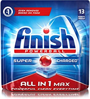 Finish Powerball All-in-One Dishwasher Detergent Tablets - 13 Pieces
