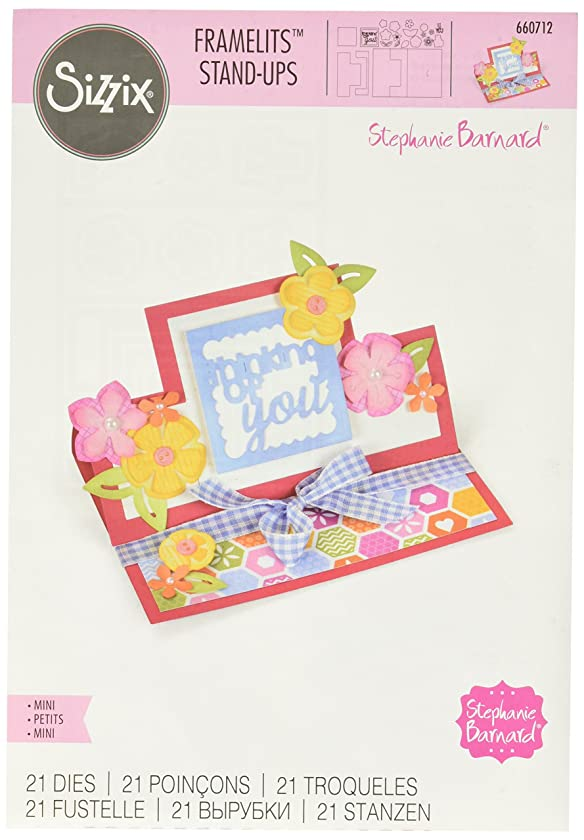 Sizzix Framelits Die Set, Card, Thinking of You Mini Stand-Ups by Stephanie Barnard, 21-Pack