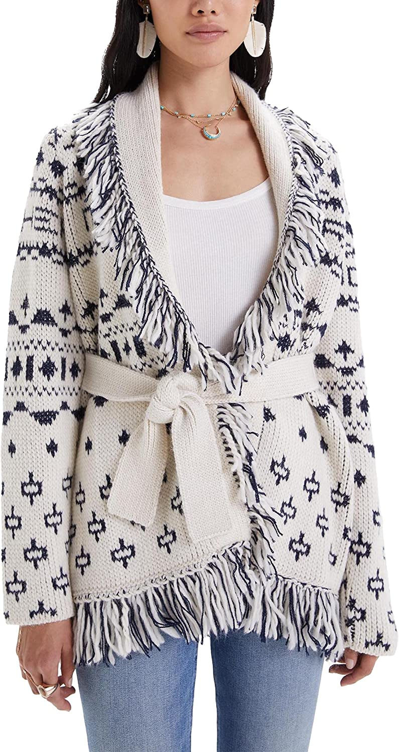 MOTHER Women's The Belted Short Cardigan
