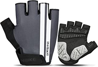 INBIKE Cycling Gloves, Bike Gloves Mountain Road 5MM Pads Half Finger Reflective for Men