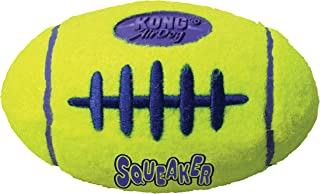 KONG - AirDog Squeaker Football - Squeaky Bounce and Fetch Toy, Tennis Ball Material - For Large Dogs