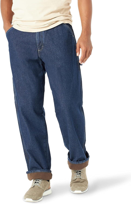 Wrangler Authentics Topics on TV Men's Fleece Lined Industry No. 1 Pant Carpenter