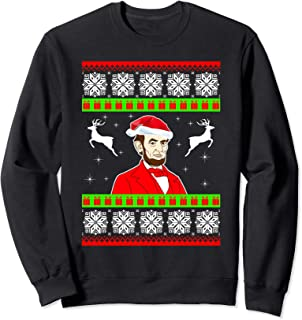 Abraham Lincoln Santa Hat Christmas Ugly Sweater Xmas Gift Sweatshirt