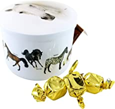 Gardiners Of Scotland Horses Tin filled with Luxury Traditional Scottish Vanilla Fudge, 7 Ounce
