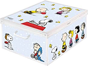 Kanguru Collection Cardboard Box for Storage of Garment, Clothes, Wardrobes, Toys, Home, PEANUTS, Multi-Colour, size size ...
