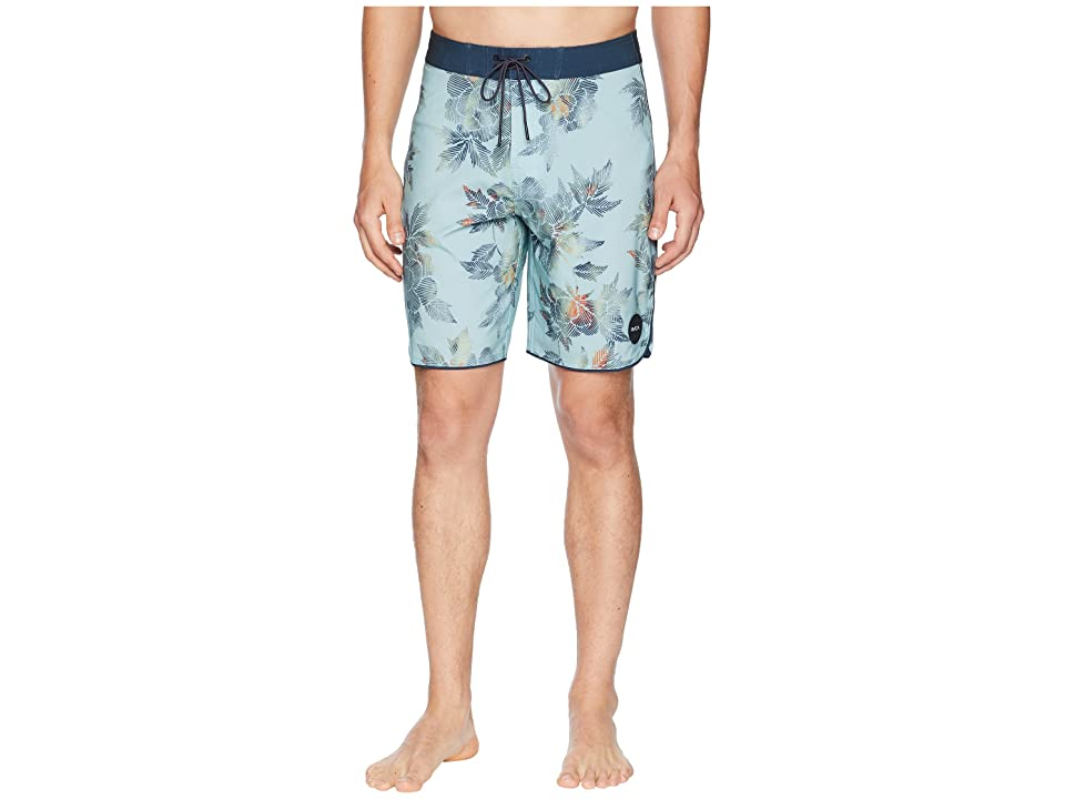 RVCA Bora Trunks (Grey Mist) Men