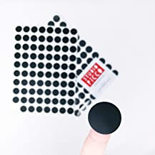 Black Mini Polka Dot Wall Decals, Easy Peel and Stick Fully Removable Vinyl Stickers, 1 inch