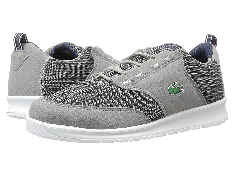 Lacoste Kids L.ight (Little Kid/Big Kid) (Dark Grey/Navy) Kid
