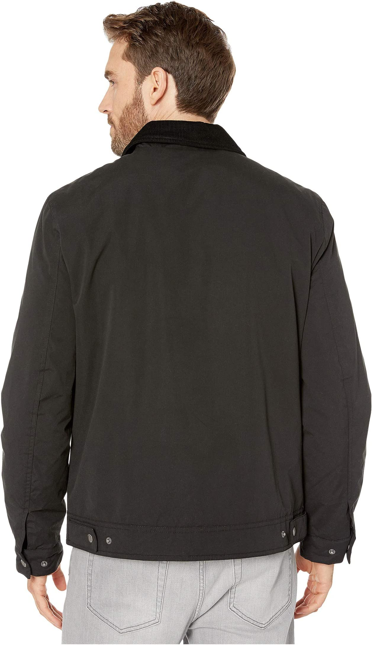 Cole Haan City Rain Padded Barn Jacket with Corduroy Collar YTJtj