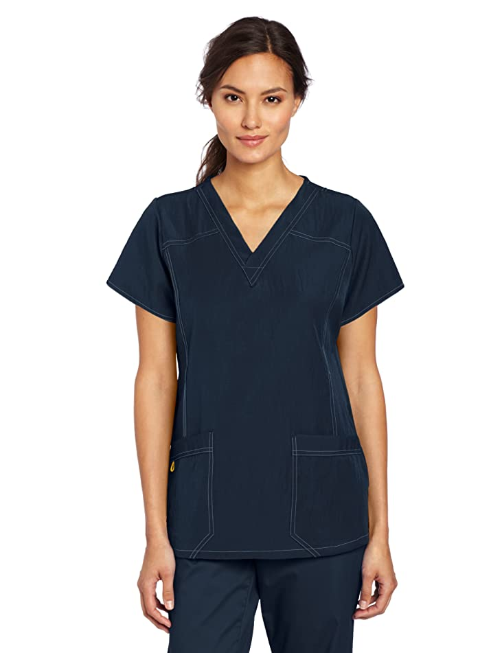 WonderWink Women's Four Stretch Sporty V-Neck Scrub Top