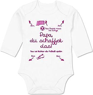Shirtracer Strampler Motive - Papa du schaffst das Fußball Mädchen - Baby Body Langarm