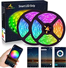 WIFI LED Strip Lights 10M (2x5M), ALED LIGHT RGB LED Strips Lights 5050 SMD 300 (2x150), 16 Million Colors, Sync with Musi...