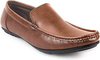 Levanse Brown Slip On Corporate Casual Shoes for Men/Boys.