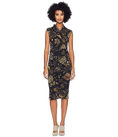 FUZZI Sleeveless Brocade Dress (Nero) Women
