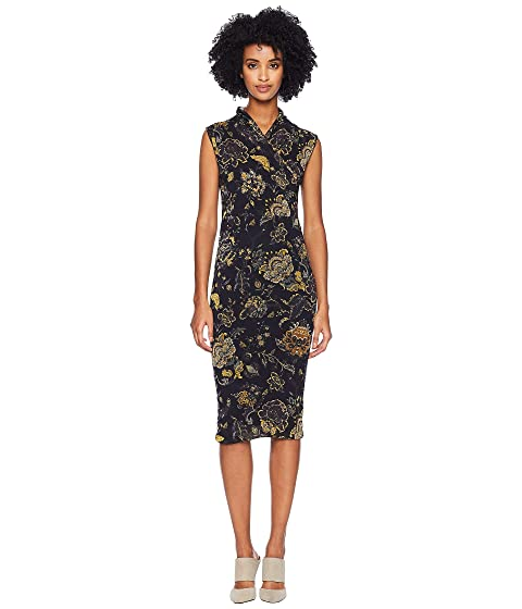 FUZZI Sleeveless Brocade Dress